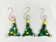 Fused Glass Christmas Tree Ornament (Set of 3)