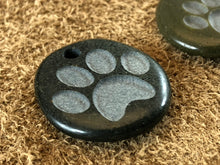 Dog Paw/Cat Paw Print Basalt Sand Carved Focal Bead