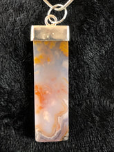 Turkish Agate Stone and Sterling Silver Pendant Necklace