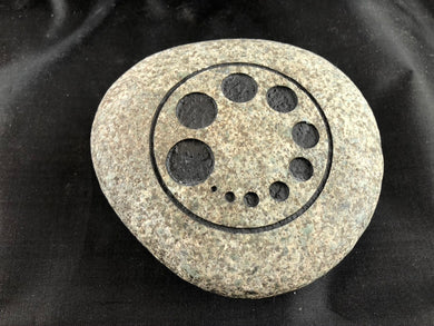 Diminishing Circles - Sand Carved Stone