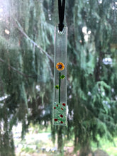 "Fused Glass Sun Catcher - ""Small Lone Flower"""