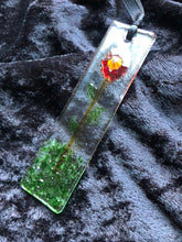 "Fused Glass Sun Catcher - ""Lone Flower"""