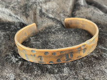 Hand Hammered Distressed Copper Bracelet