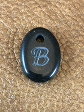 Monogram Initial Sand Carved Focal Bead