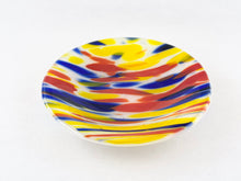 "Medium Fused Clear Glass Bowl/Tray - ""Carnival Spirit #2"""