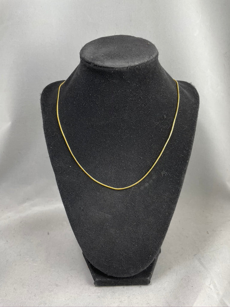 Economy Gold Plated Snake Chain Necklace with Clasp