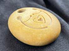 """Unity"" Sand Carved Stone Focal Bead"