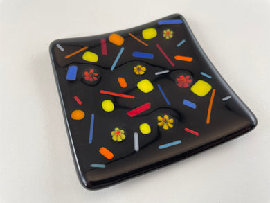 Small Fused Glass Plate/Dish -