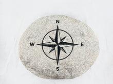 "Compass Rose - Sand Carved Stone - Large 10-1/4"" x 8-1/2"" x 2-1/2"""