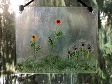 "Fused Glass Sun Catcher - ""Field of Flowers"""