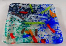 Streamers Fused Glass Coaster/Spoon Rest