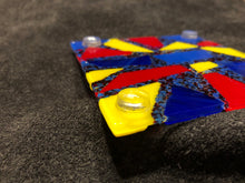 Fused Glass Coaster - Rubber feet bottom view