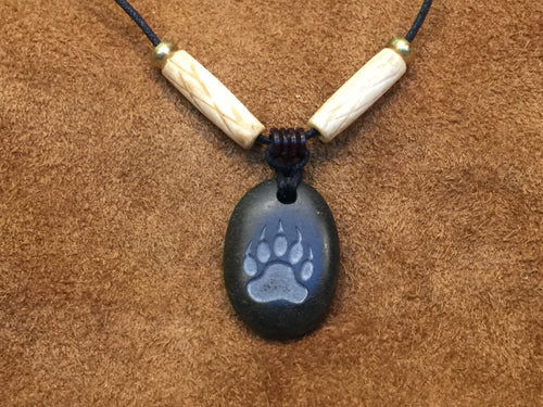 Bear Paw Print Pendant Necklace