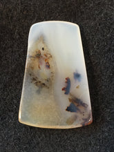 Mad River Agate - Trapazoid Cabochon - back view