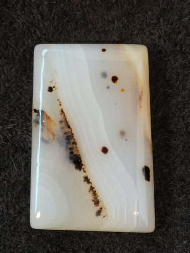 Mad River Agate - Rectangular Stone Cabochon - front view