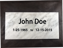 Custom Engraved/Sand Carved Memorial Carrara Marble Marker Tile