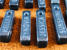 Custom Name Basalt Sand Carved Focal Bead