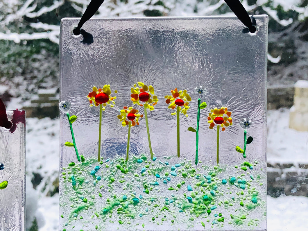 Fused Glass Sun Catcher -