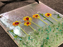 "Fused Glass Sun Catcher - ""Morning Flowers"""