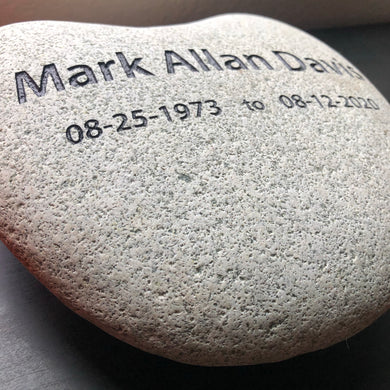 Custom Engraved/Sand Carved Memorial Stone
