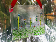 "Fused Glass Sun Catcher - ""Flowers on the Prairie"""