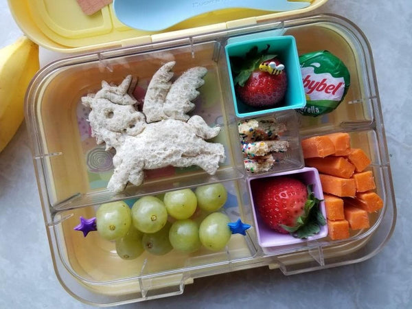 Munchbox Munch box bento bentobox midi5 Yumbox  Yellow Lemonade