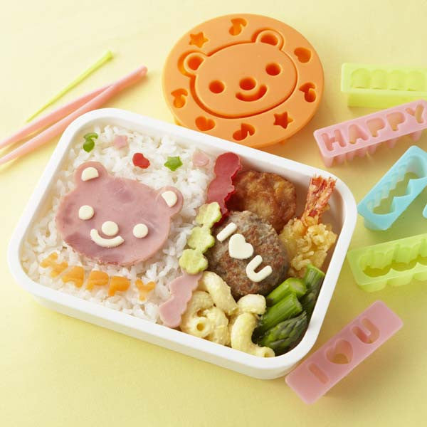 Bear & Message Food Cutter Set