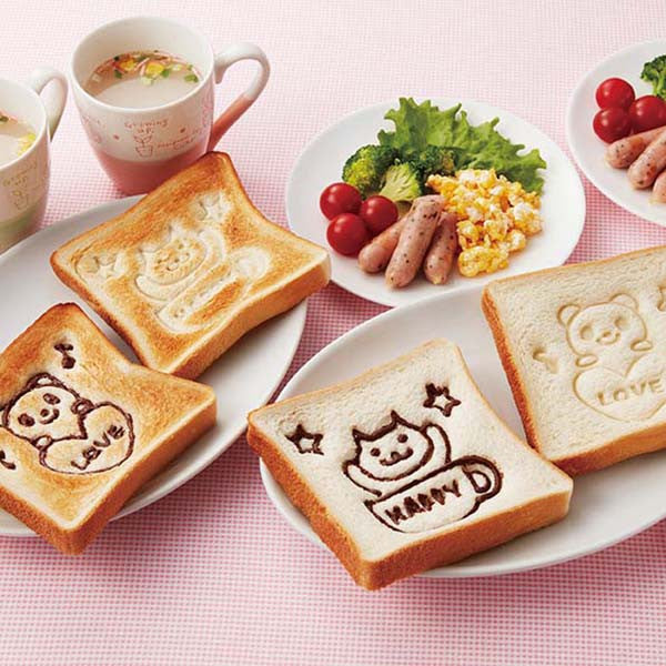 Happy Bear Bento Sandwich Stamp Set