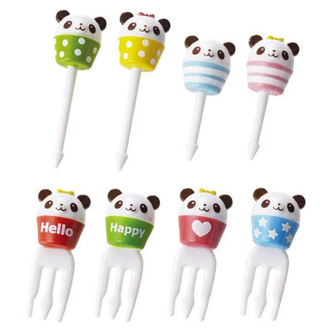 Cuppy Panda Food Bento Picks and Forks