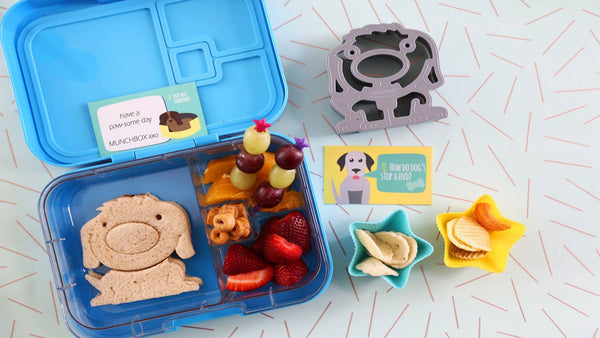 Lunch punch sandwich cutter munchbox
