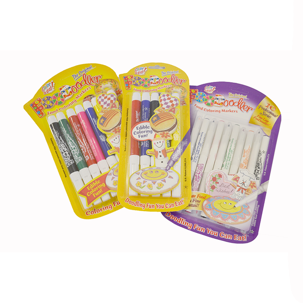 Foodoodlers Edible Markers - 10 Fine Tip Colours