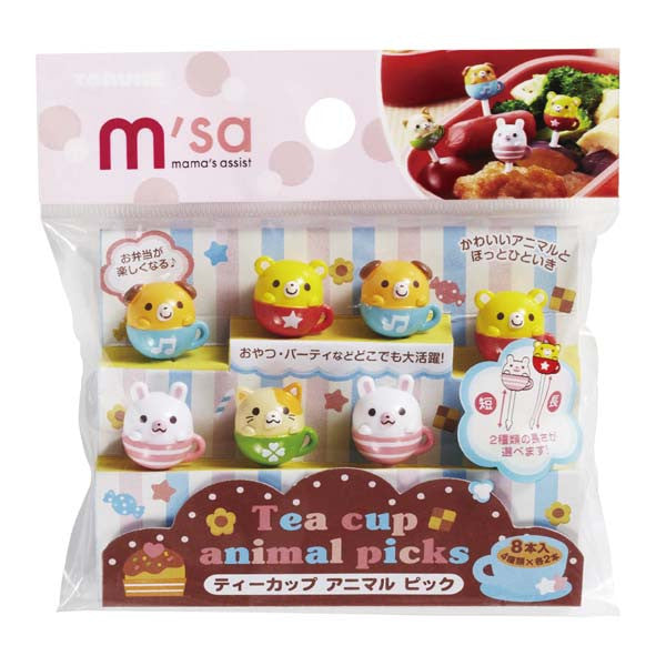 Tea Cup Animal Bento Food Pick