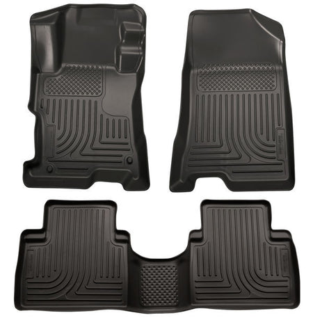 2008-2012 HONDA ACCORD FRONT & 2ND SEAT FLOOR LINERS- BLACK - LMDPERFORMANCE,