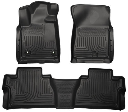 2014-2017 TOYOTA TUNDRA FRONT & 2ND SEAT FLOOR LINERS (FOOTWELL COVERAGE) - BLACK - LMDPERFORMANCE,