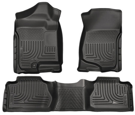 2007-2014 ESCALADE/ AVALANCH/ SUBURBAN/ YUKON FRONT & 2ND SEAT FLOOR LINERS - BLACK - LMDPERFORMANCE,