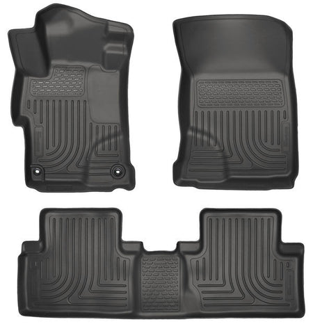 2014-2015 HONDA CIVIC FRONT & 2ND SEAT FLOOR LINERS- BLACK - LMDPERFORMANCE,