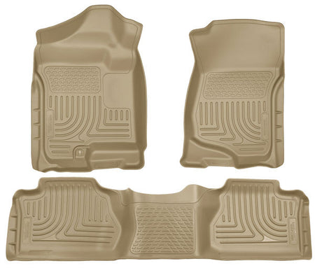 2007-2014 ESCALADE/ AVALANCH/ SUBURBAN/ YUKON FRONT & 2ND SEAT FLOOR LINERS- TAN - LMDPERFORMANCE,