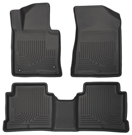 2015-2017 HYUNDAI SONATA/ KIA OPTIMA FRONT & 2ND SEAT FLOOR LINERS- BLACK - LMDPERFORMANCE,