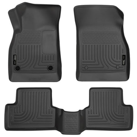 2013-2015 CHEV MALIBU FRONT & 2ND SEAT FLOOR LINERS- BLACK - LMDPERFORMANCE,