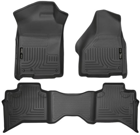 2009-2017 DODGE RAM QUAD CAB FRONT & 2ND SEAT FLOOR LINERS- BLACK - LMDPERFORMANCE,