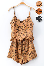 AUTUMN MAPLE LEOPARD PRINT CAMI AND SHORTS