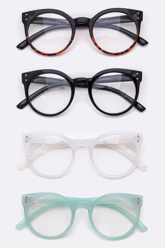 ROUND FRAME BLUE BLOCKING GLASSES