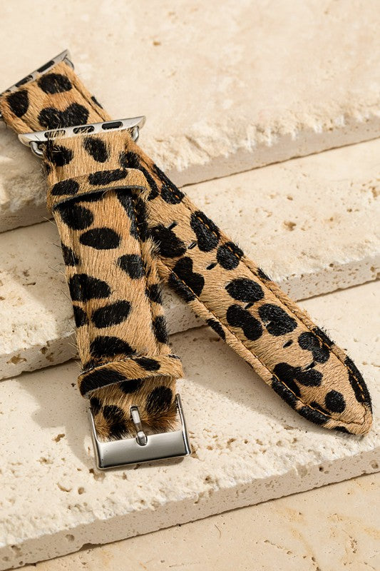 CHEETAH HAIR-ON APPLE WATCH BAND