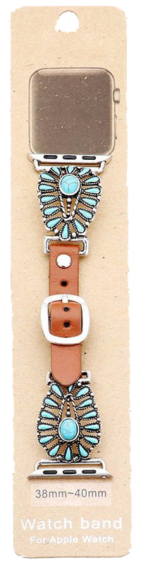 TURQUOISE SQUASH WATCH BAND