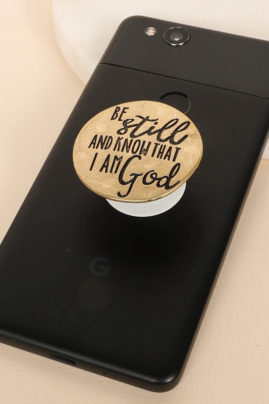 BE STILL - GOLD PLATED PHONE GRIP