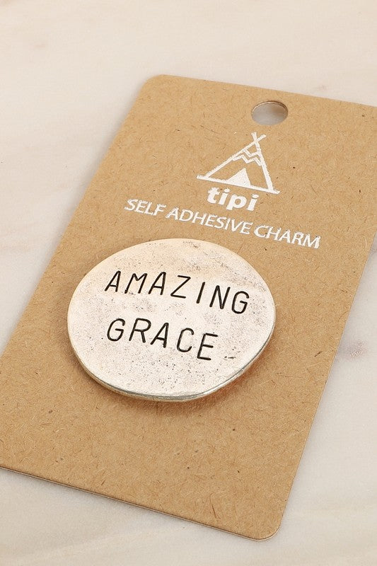 AMAZING GRACE - SILVER PLATED PHONE GRIP