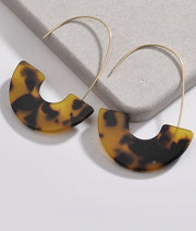 LEOPARD ACRYLIC EARRINGS