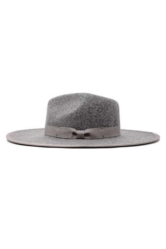 GRAY WOOL FELT PANAMA HAT
