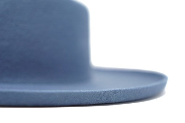 POWDER BLUE WOOL FELT PANAMA HAT