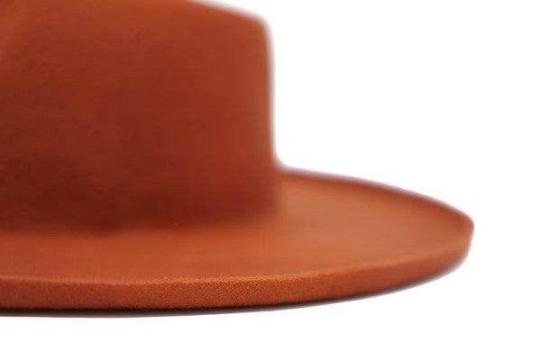 RUST WOOL FELT PANAMA HAT